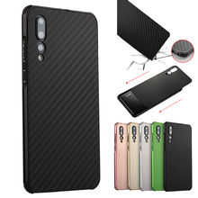 Luxury Metal Case For Huawei P20 Pro Aluminum Frame & Carbon Fiber Back Cover For Huawei P20 Pro P20+ Case Shockproof Shell Capa