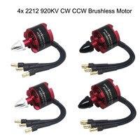 4x 2212 920KV CW CCW Brushless Motor For DJI F330 F450 F550 X525 Quad Multi Use