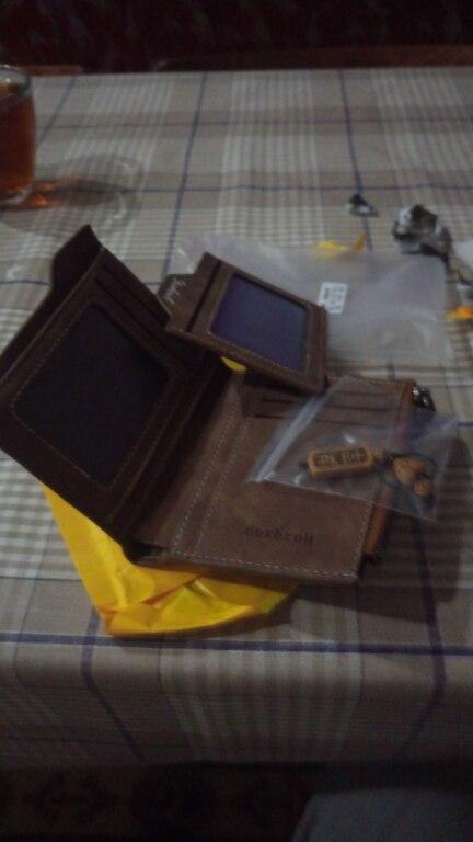 Кошелек Для мужчин мягкий кожаный бумажник с Съемные слоты для карт Многофункциональный Для мужчин бумажник кошелек мужской клатч наивысшего качества!
