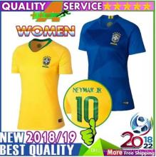 Women Brazil Shirt 2018 World Cup Coutinho Jesus Neymar Jr soccer jerseys  Oscar PAULINHO Marcelo Casemiro Brasil National Team fb8f313024