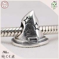 Popular Top Quality Retro 925 Solid Silver Cowboy Hat Charm Fitting European Famous Bracelet