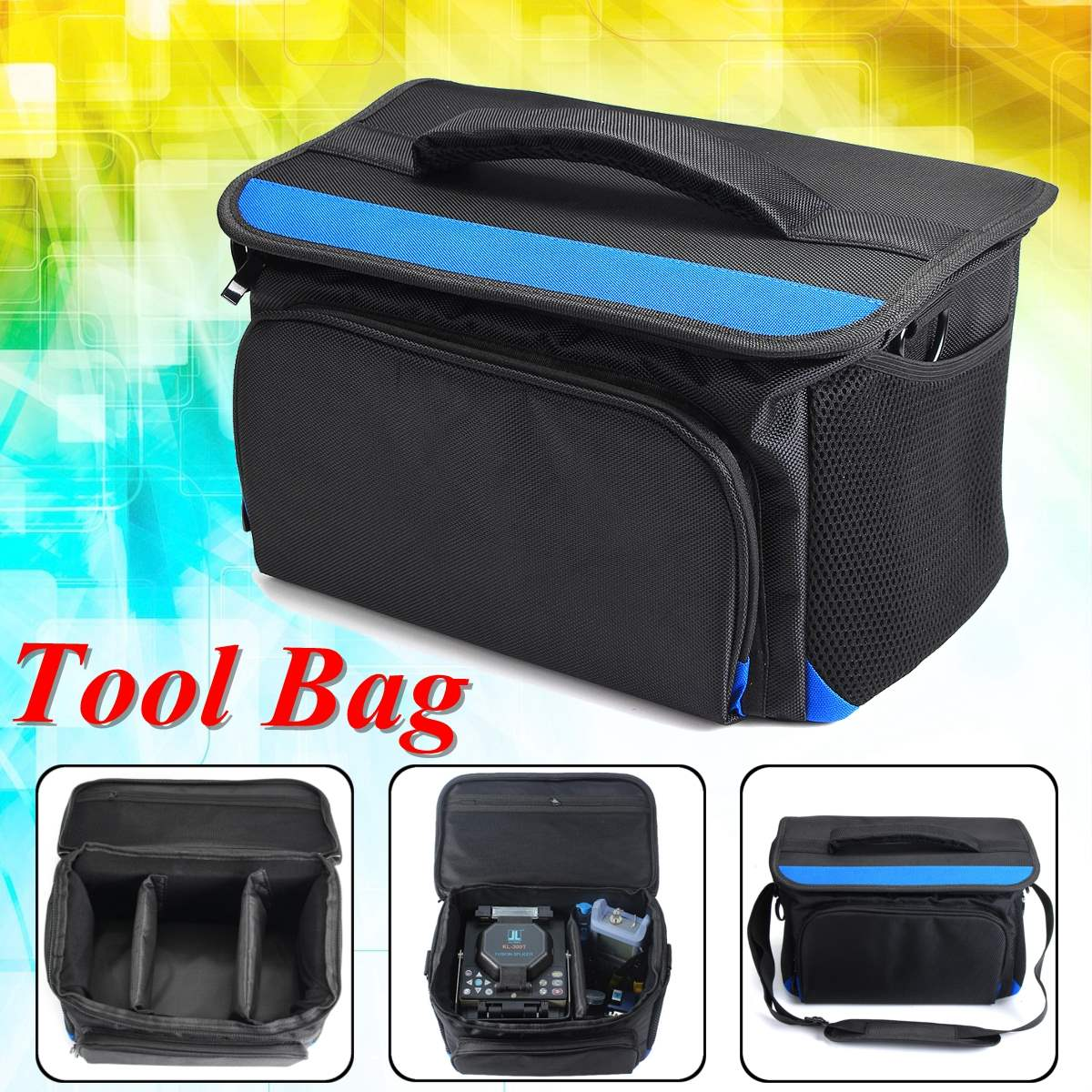 Tools Bag Waterproof Cover For Fusion Splicer Welder Tools Bag Wide Mouth Electrician Bags With 2 Sponge Compartment welder machine plasma cutter welder mask for welder machine