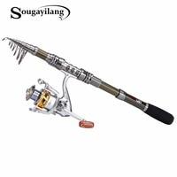 Sougayilang 1 8 3 0m Telescopic Fishing Rod Set And 14BB Metal Spool Spinning Reel Spinning