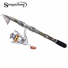 Sougayilang 1.8-3.0m Telescopic Fishing Rod Set and 14BB Metal Spool Spinning Reel Spinning Fishing Rod Reel Combo cana de pesca