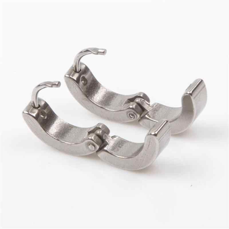1 пара крутые мужские круглые серьги для ушей из нержавеющей стали 4 цвета в наличии