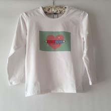 2017 New Fashion Girl T shirt  Cartoon fall in love  Print Long Sleeves Baby T-shirts Children Clothes Kids Tops outwear  GW49