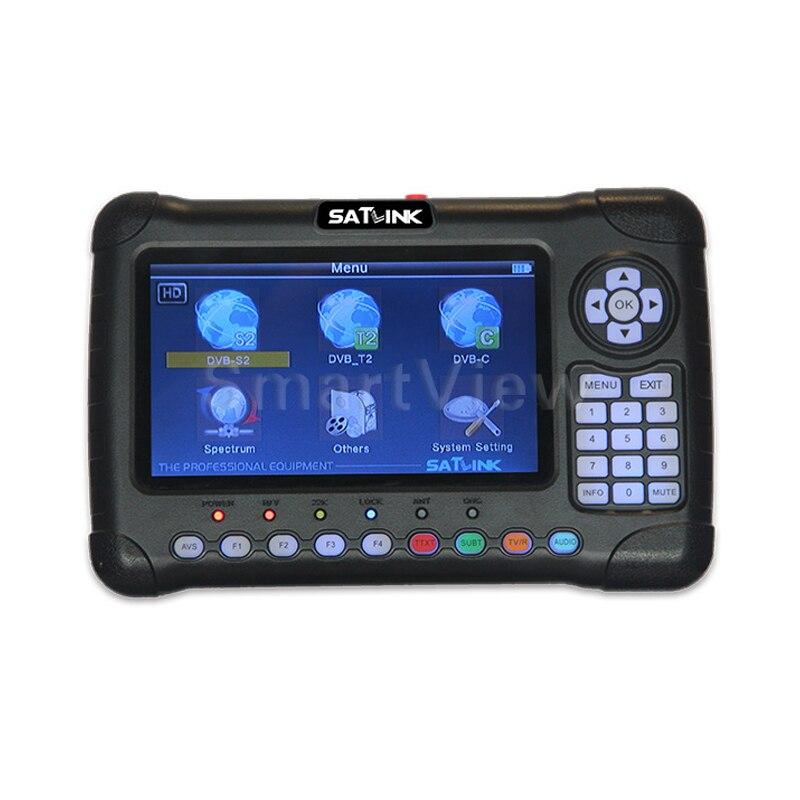 Satlink WS 6980 Digital Satellite Finder DVB S2 DVB C DVB T T2 Combo Detection Spectrum