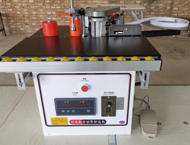 MY-07 мини ручной деревянный ПВХ кромкооблицовочный станок с резки станок для облицовывания кромок ПВХ сам и контроль скорости - Цвет: MY07C computer type
