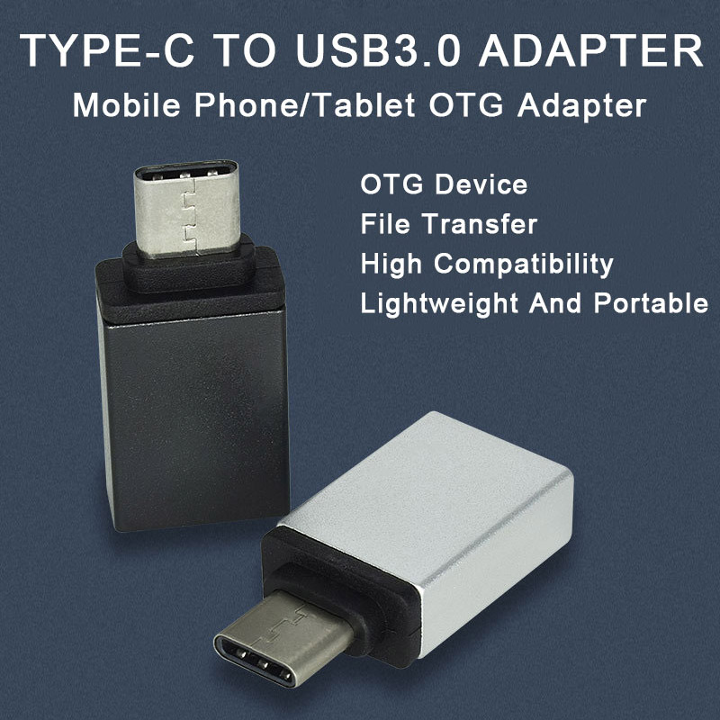 Mini Type C To USB 3.0 Jack Converter Type-c OTG Adapter For Android Mobile USB Connector Smartphone Data Transmission Splitter