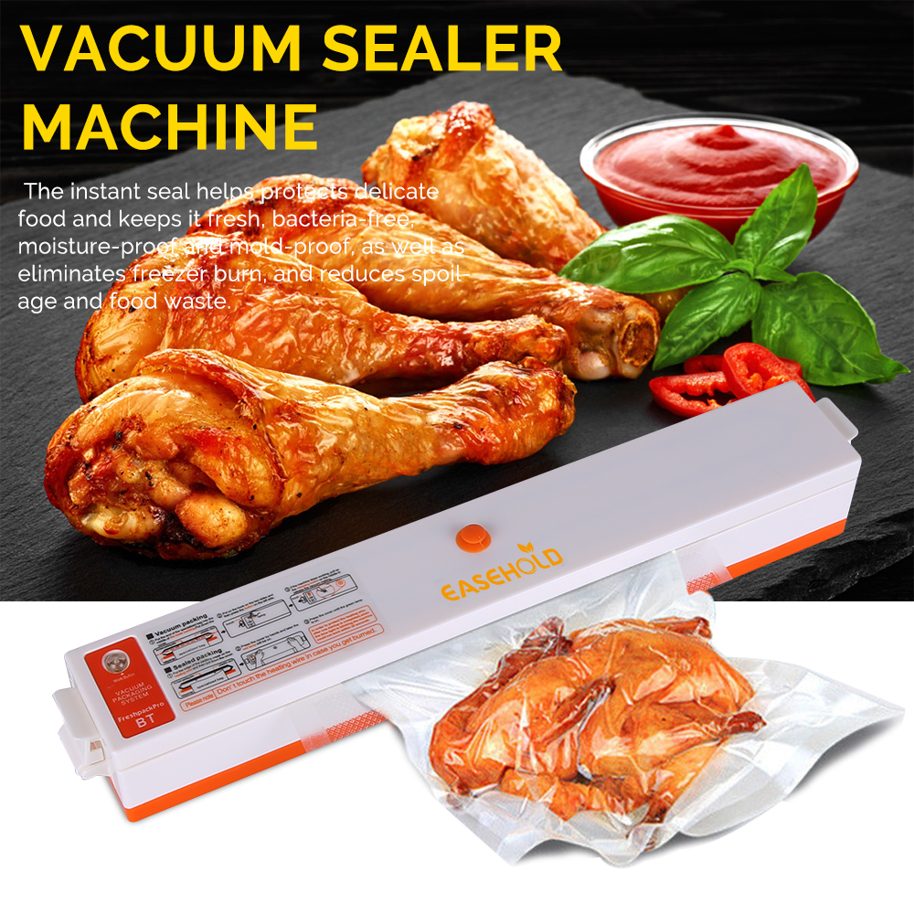 EASEHOLD 220V Household Food Vacuum Sealer Packaging Machine Film Sealer Vacuum Packer Including 15Pcs Bags household vacuum food sealer packaging machine 220v film sealer vacuum packer with 10 bags