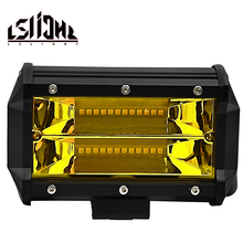 LSlight Work Light 72w 3000k led bar 4x4 accessories Offroad LED Light Bar Flood Spot Combo Beam Spotlight 12V For Jeep ATV UAZ стоимость
