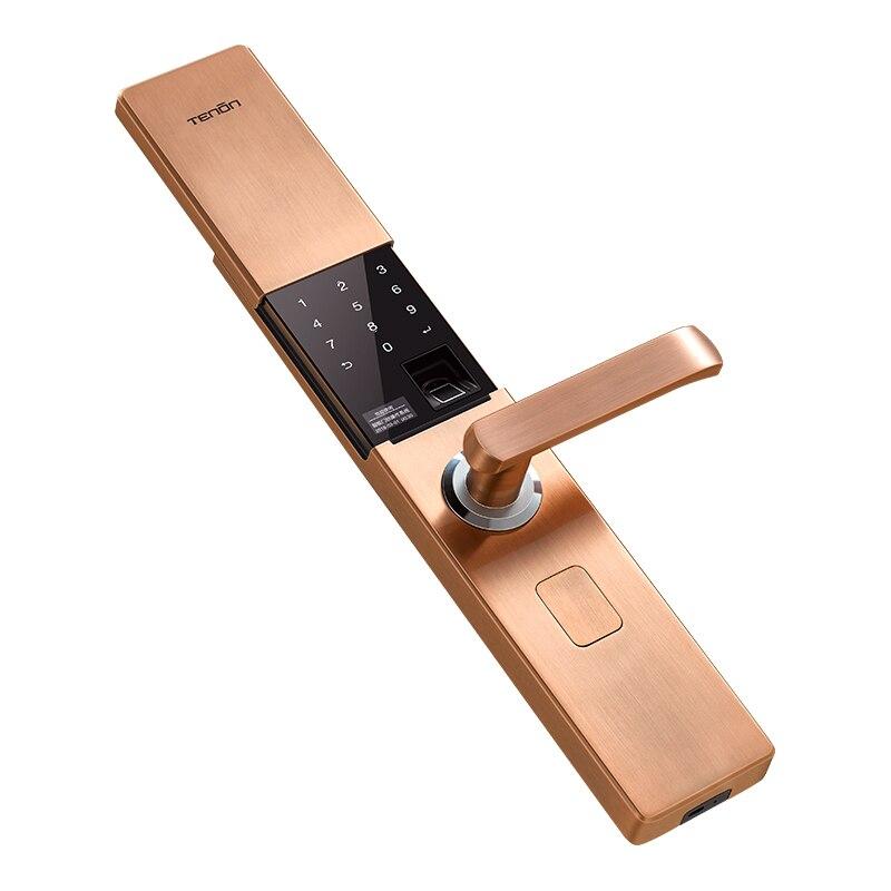 NEW V9 IC Fingerprint Touch Screen Password Entrance Anti-theft Door Electronic Smart Lock Red bronze/K gold/green bronze все цены
