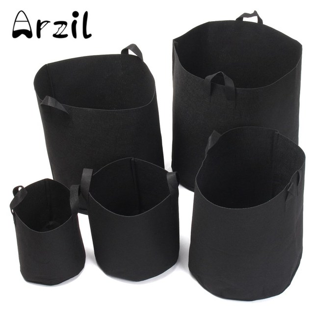 Storage Bags 5pcs Set Round Fabric Grow Nursery Pots Flower Plant Pouch Root Container Aeration