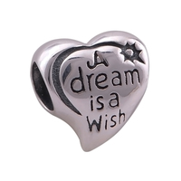 Everbling Jewelry A Dream Is A Wish Heart 100 925 Sterling Silver Charm Bead Fits Pandora