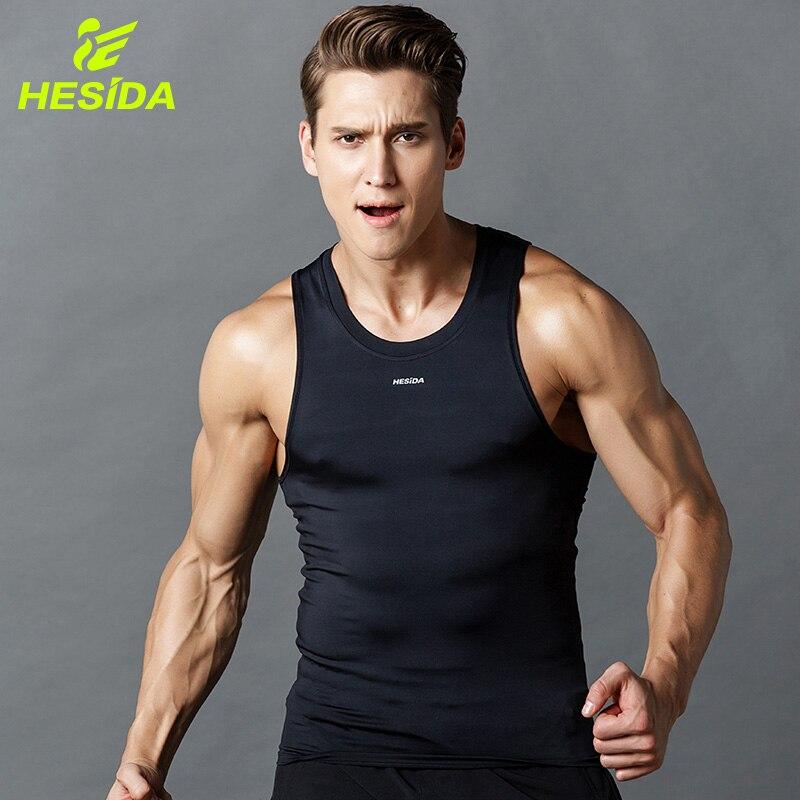 Men Fitness Tight Tank Top Compression Quick Dry Sport Bodybuilding Gym Sleeveless Running Vest Stringer Sportswear Singlet