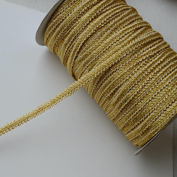 per metre Impex Round Metallic Braid Trimming Gold
