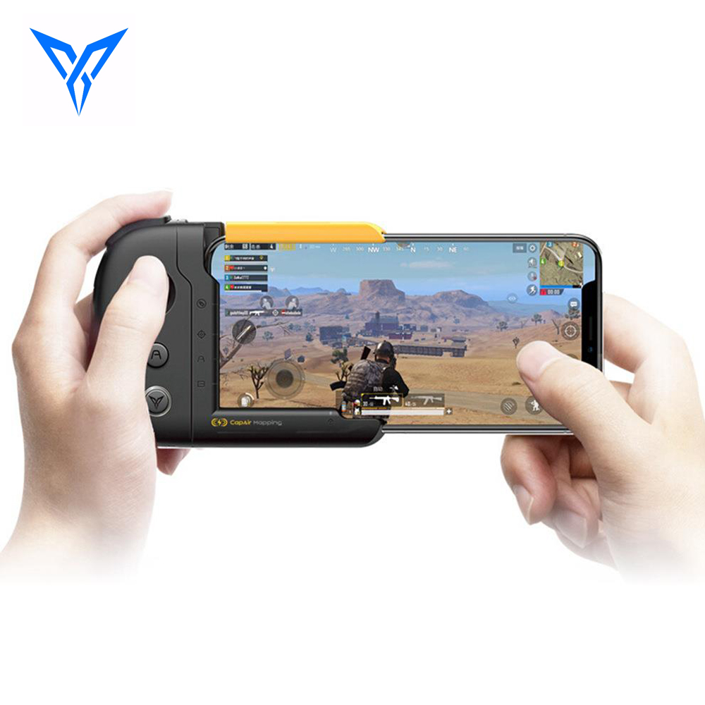 FlyDiGi WASP One-handed Gamepad Physical Connection CapAir Mapping Joystick for PUBG Mobile Game Controller for iPhone Android flydigi x9et pro non vibration mobile game handle controller