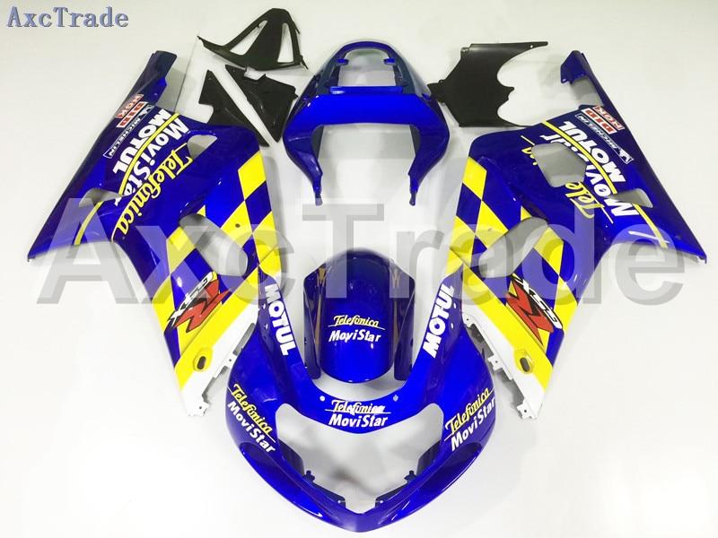 Мотоцикл Обтекатели для Suzuki GSXR системы GSX-Р 600 750 GSXR600 GSXR750 2001 2002 2003 К1 пластичной Впрыски ABS обтекатель комплект синий автомагистрали a79