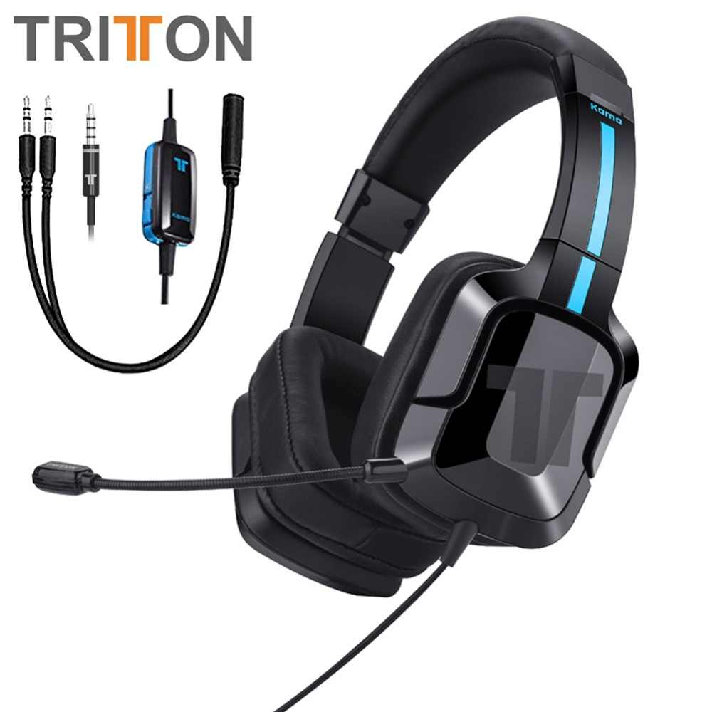5fae2796e28 TRITTON Kama Plus Stereo Gaming Headset for PS4, PC, Xbox One, Noise  Cancelling