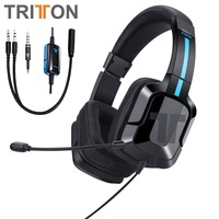 TRITTON Kama Plus Stereo Gaming Headset for PS4, PC, Xbox One, Noise Cancelling Over Ear Gaming Headphone