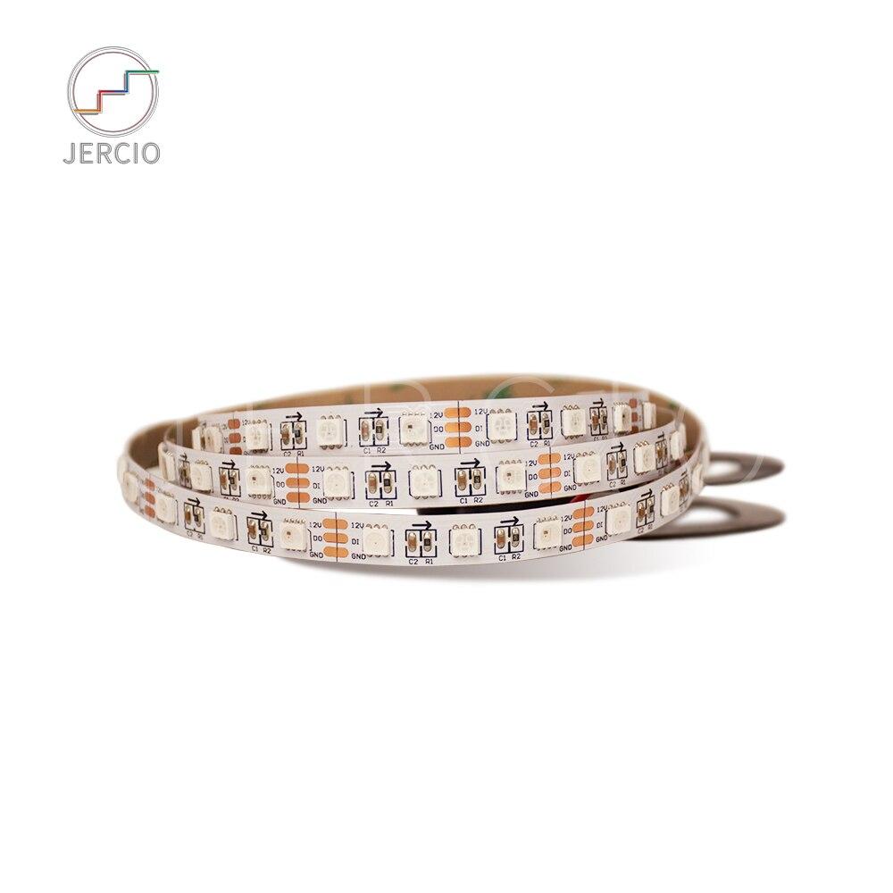 JERCIO 1m/2m/4m/5m XT1511-RGB-p8/ XT1511-RGBW+WW-P8 Like ws2812b 60 pixels/leds/m DC12V magic digtial led pixel strip