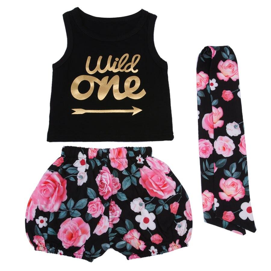 Pasgeboren zomer katoenen pakken Baby meisjes kleding Set Wild een - Babykleding - Foto 4