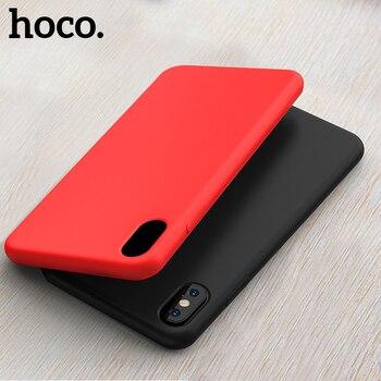 HOCO Originele Vloeibare Siliconen Case Voor iPhone X XS Ultra Slim Back Cover Stijlvolle Premium luxe Voor iPhone XS max XR