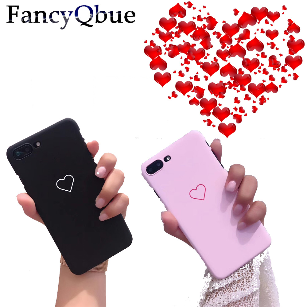 Phone Case For iPhone 8 7 6 6s Plus Fashion Couples Graffiti Love Heart Ultra Hard PC Back Cover Cases For iPhone 8