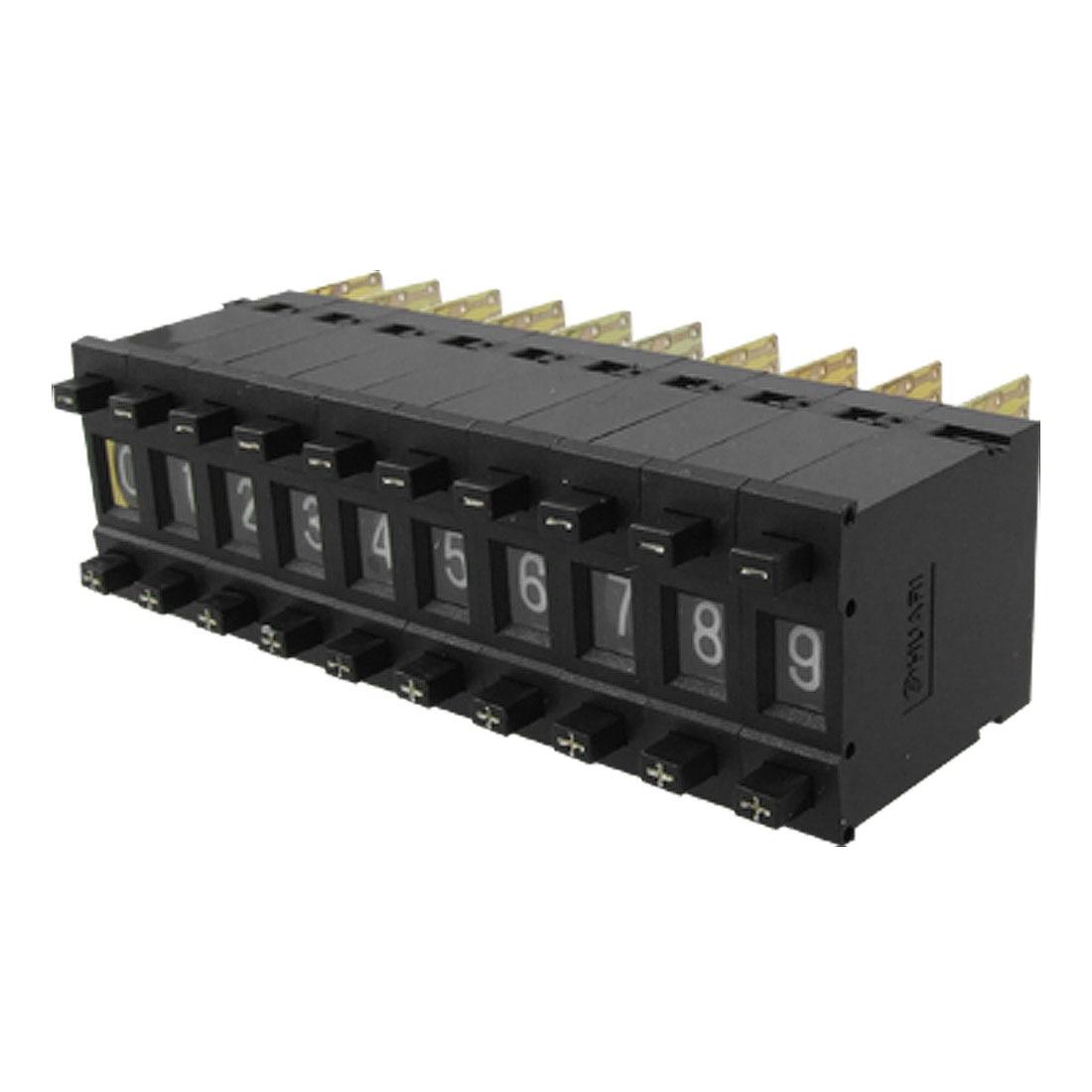3 Pcs 0 9 Digit One Unit Binary Coded Decimal Thumbwheel Switch In Switches Plastic Knob And Bezel Speed Rotary Heater Fan Uxcell 10 Km1 Digital Single Pushwheel