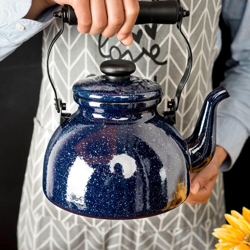 Japonais ciel étoilé porcelaine émaillée bouilloire sans sifflet théière thé cafetière gaz universel électromagnétique four eau bouilloire
