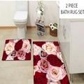 Больше красного цвета: кремовый, розовый, цветочный узор, с цветочным принтом, 2 предмета 3d принтом ванны коврики противоскользящие мягкие м...