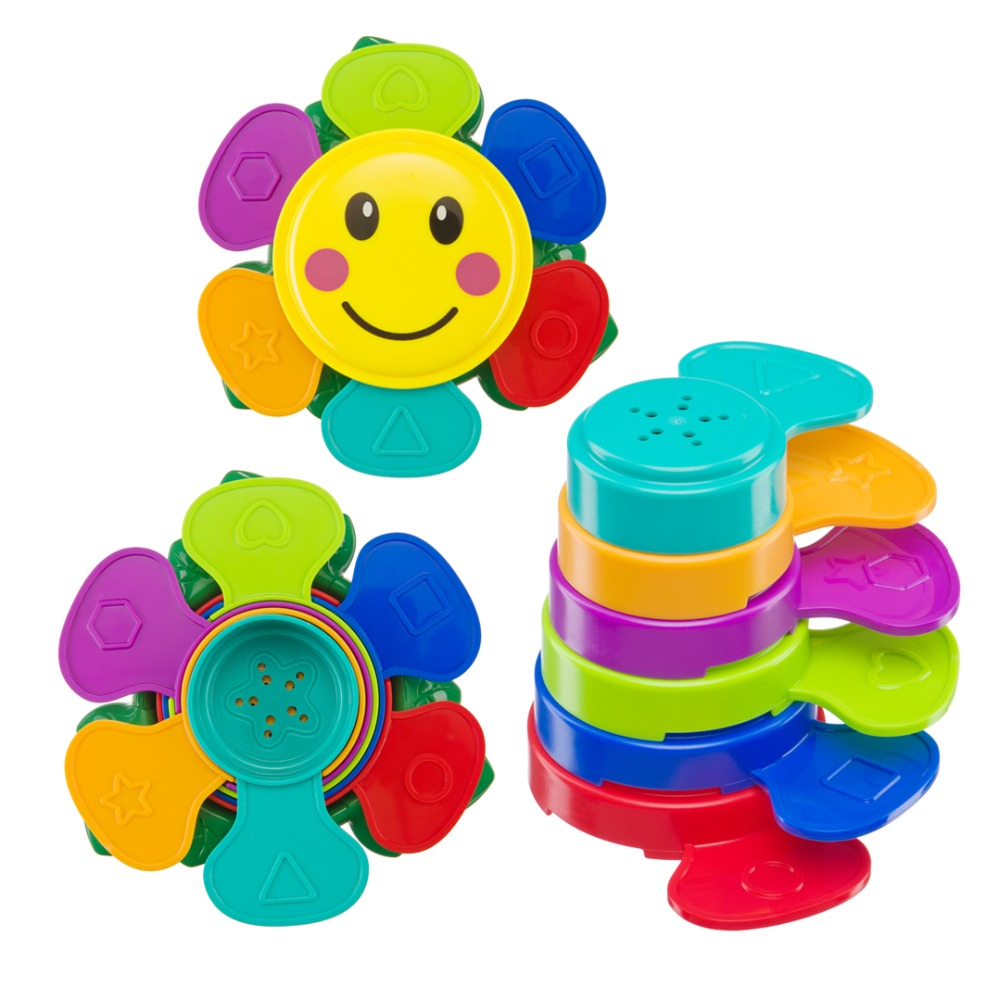 Set of toys for the bathroom FLOWER PUZZLE Happy Baby утяжеление для рук happy flower aqquatix aft 0001