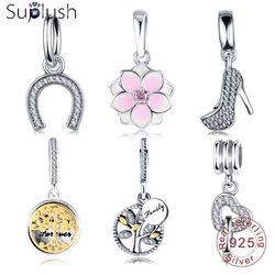 Suplush 31 Styles 925 Sterling Silver Charm Pendant Beads Fit Original Pandora Charm Bracelet Jewelry Accessories Wholesale