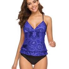 4 шт бикини купальники женские синие цветочные печати Maillot De Bain Femme