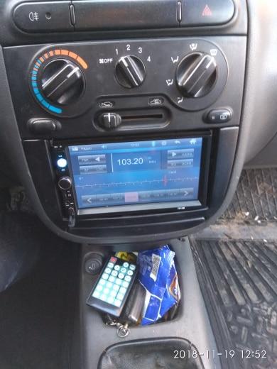 """Podofo 2 din Автомагнитолы 7 """"hd-плеер MP5 Сенсорный экран цифровой Дисплей Bluetooth USB Multimedia 2din Авторадио резервного копирования монитор автомобиля"""