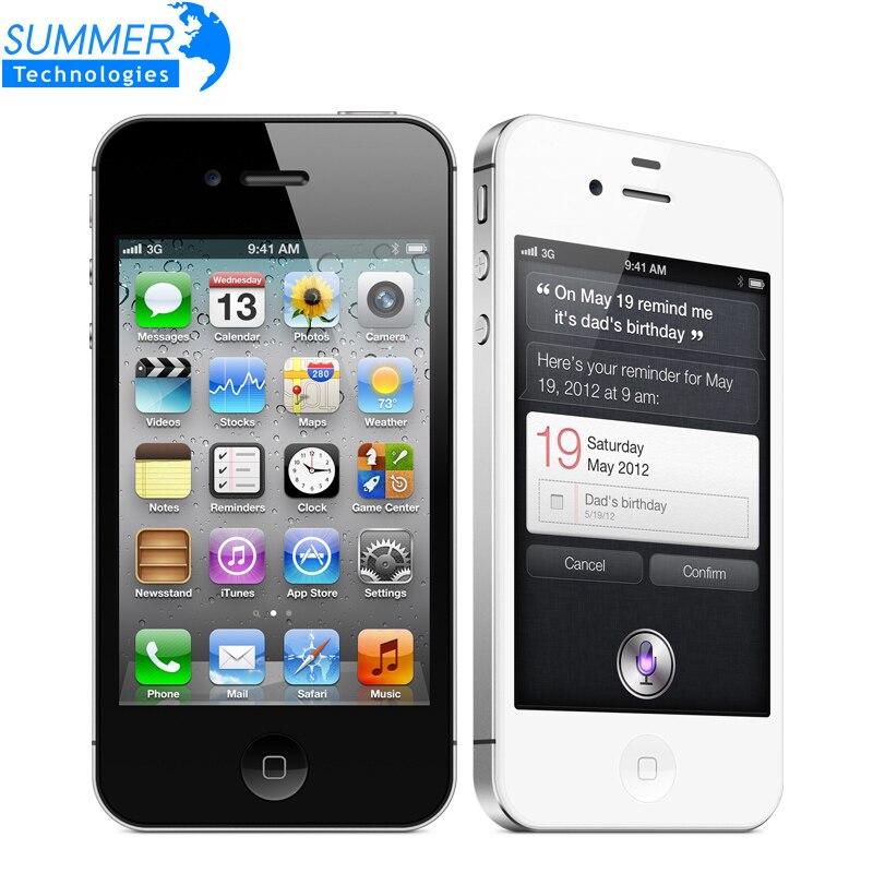 "bilder für Original Entsperrt Apple iphone 4 S handys 3,5 ""Retina IPS 16 GB ROM Handy 8MP 1080 P WCDMA GPS IOS Handy"