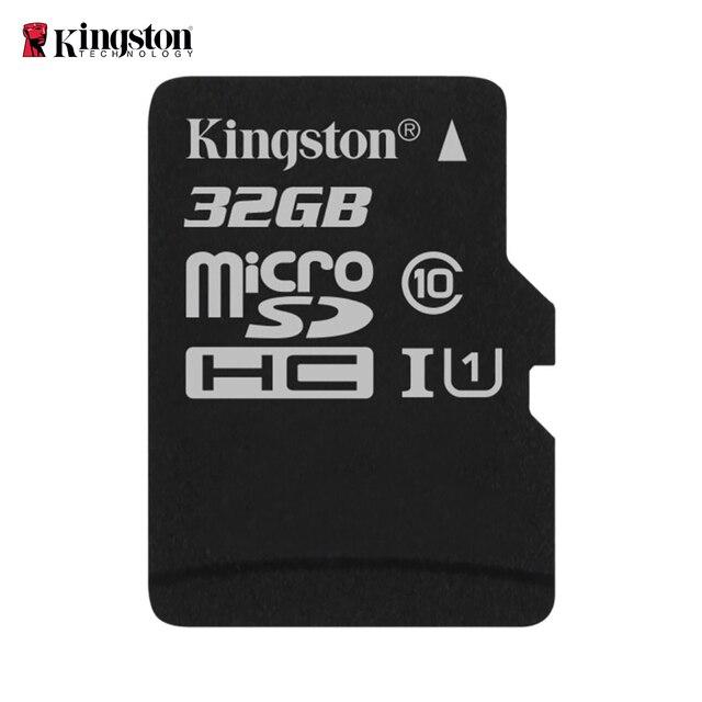 Kingston SDCS/32GB - MicroSD Canvas Select 32 GB, velocidades de UHS-I Clase 10 DE hasta 80 MB/s Lectura (con Adaptador SD) Negro