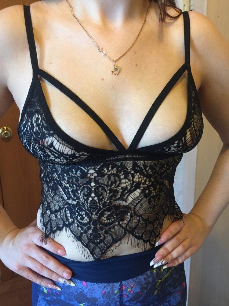 2018 Women Boho Translucent Underwear Sheer Lace Frenum Strap Lingerie Bra Top Bralette Brassiere Women Push up Bra White Black