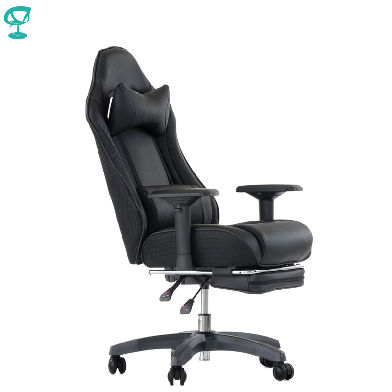 K141PuBlackBlack Barneo K-141 Black Black Line Gaming Chair Computer Chair Mesh Fabric Plastic Armrests Free Shipping In Russia