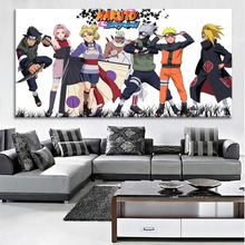 Animation Poster1 Piece Naruto Character Banner Painting Modern Wall Art Home Decorative Canvas HD Print Large Picture