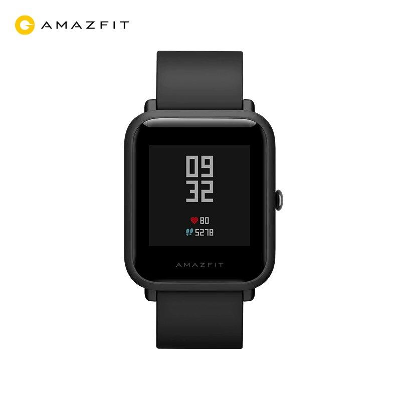 Купить со скидкой Смарт-часы Xiaomi Amazfit Bip (GPS, 45 дней без подзарядки), белый и черный ремешки с поддержкой рус