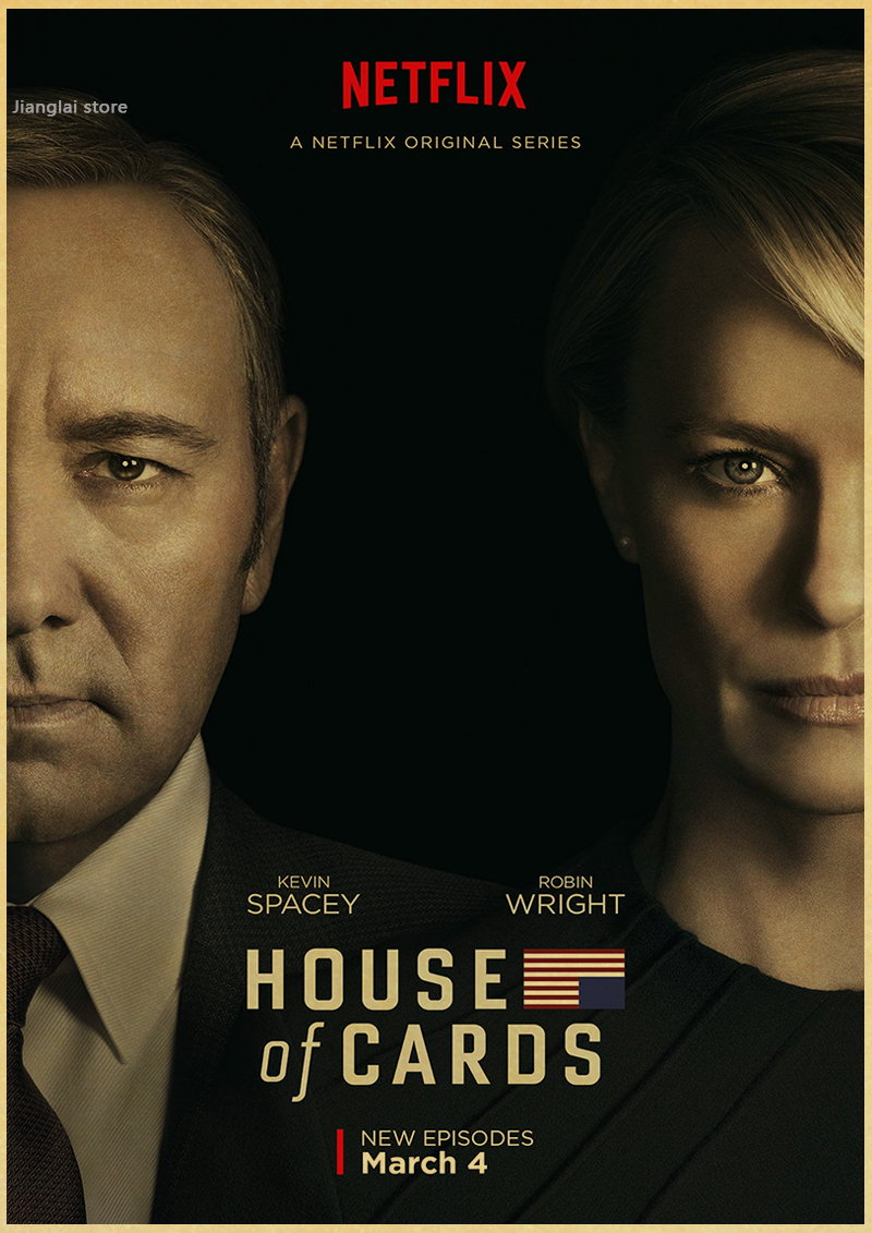 House of Cards Politics TV Vintage Retro Poster Decorative DIY Wall Stickers Home Posters Art Bar Decor Gift