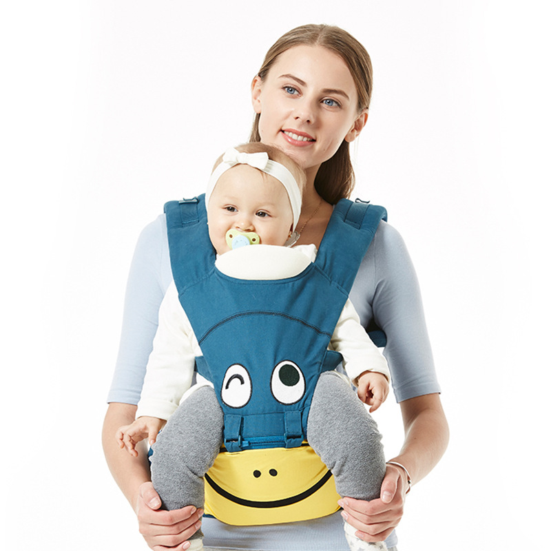 Multifunctional Cotton Kangaroo Baby Carrier for Newborn Ergonomic Cute Baby Carriers Kid Sling for All Seasons Hipseat Slings кенгуру для детей ergonomic baby carrier baby carriers 01
