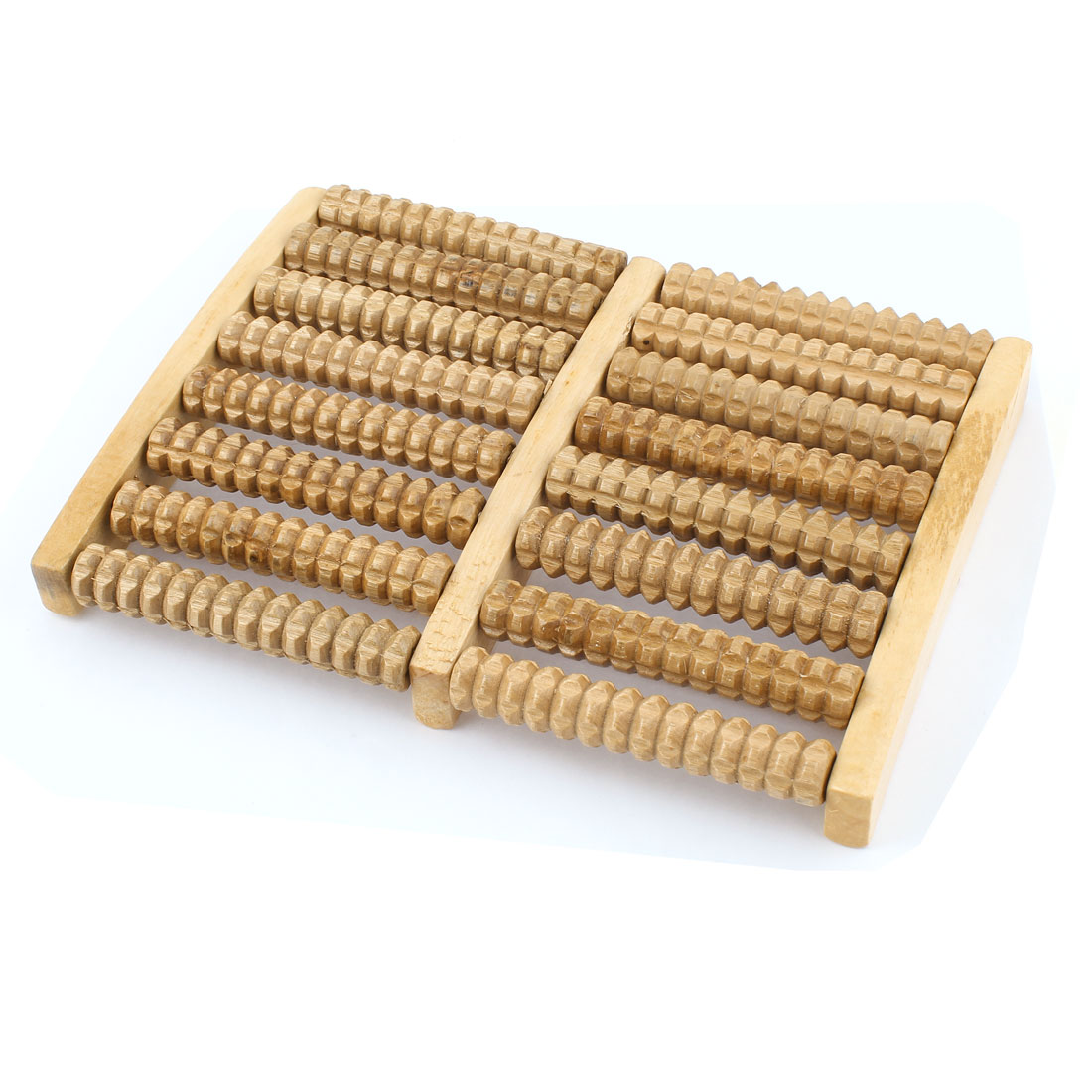 UXCELL Stress Relief Health Care Relax Wooden 8 Rows Beaded Roller Foot Massager