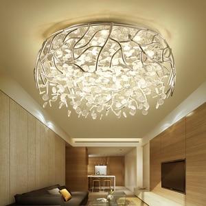 Image 5 - LED מודרני גביש תקרת אורות נורדי סלון גופי חידוש חדר שינה תקרת מנורות ברזל זכוכית תקרת תאורה