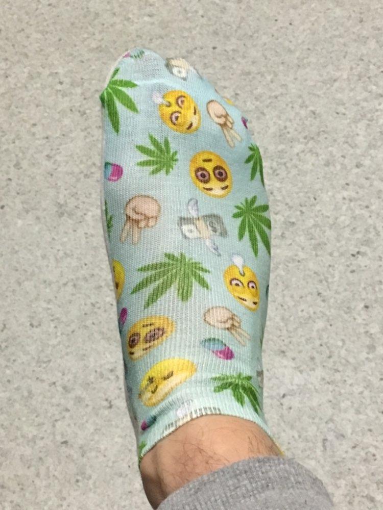 Zohra New arrival  Women Low Cut Ankle Socks Funny Aliens 3D Printing Sock Cotton Hosiery Printed Sock