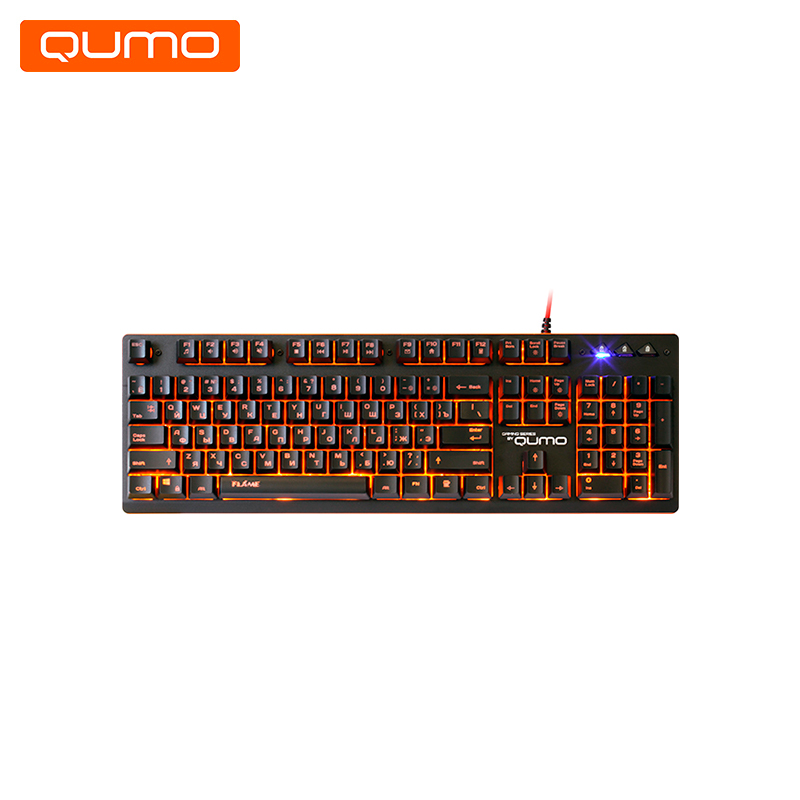 Gaming Keyboard Qumo Flame II K45 gaming headset qumo champion ghs 0001