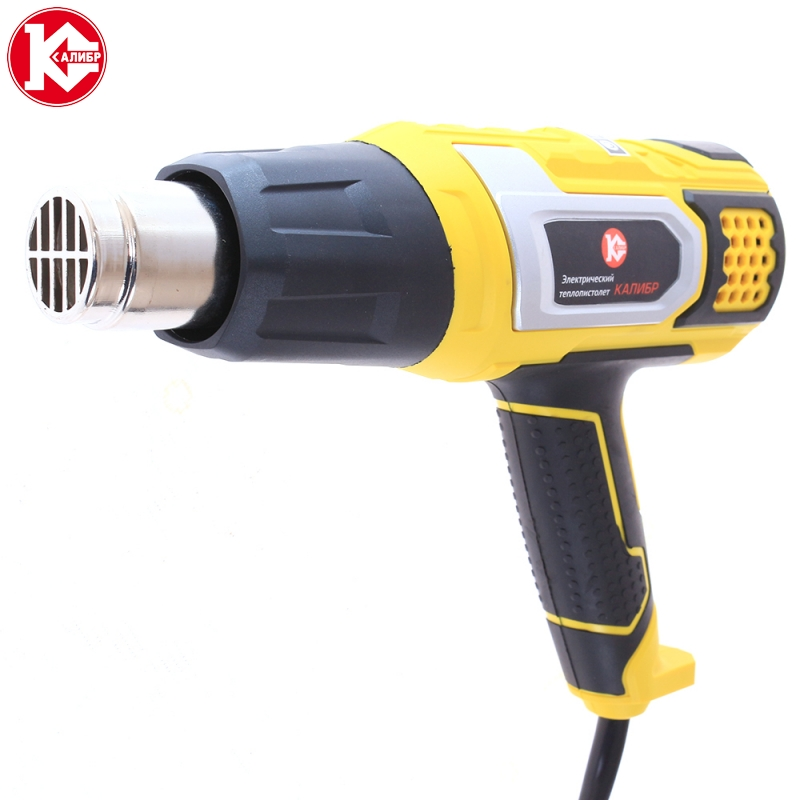 Electric heat gun Kalibr TP-2100PM power tool Industrial electric hot air gun in case with set electric heat gun diold tp 2 01e