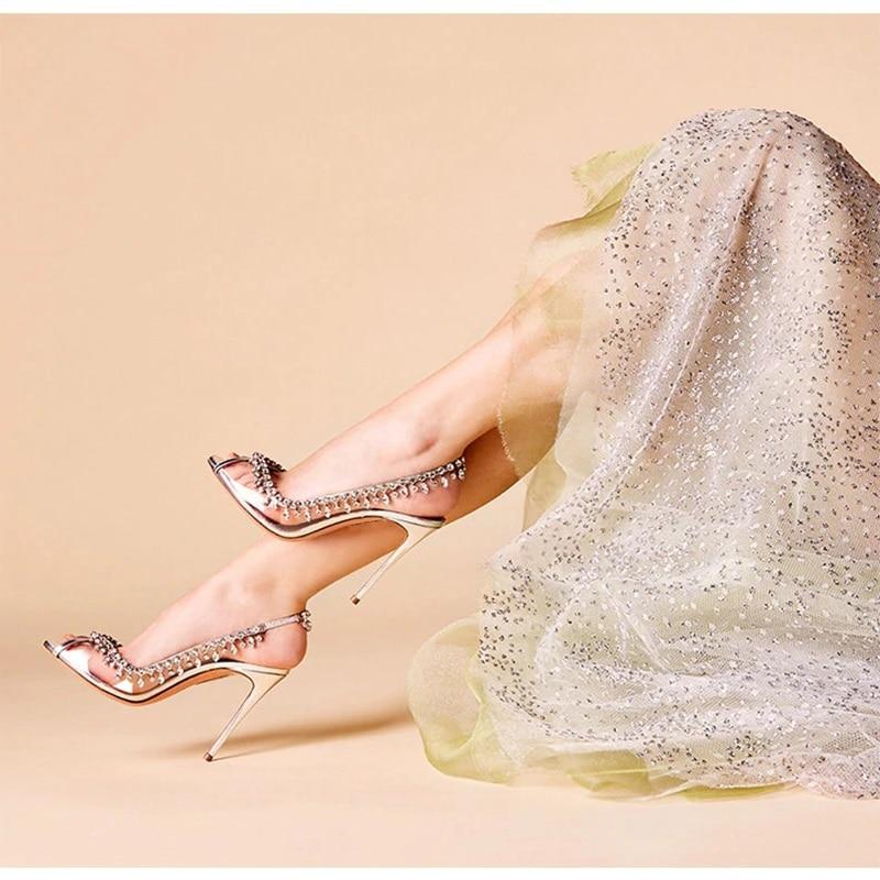 Femmes Cristal 2019 Argent Transparent Printemps Ouvert Haut As Nouveau Effacer De Femelle À Bout Mariage Stiletto Pompes Talon Chaussures Parti Picture Escarpins xBCIFqCznw
