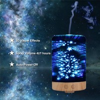 100ml 12W 3D Light Essential Oil Aroma Diffuser Ultra Quiet Portable Ultrasonic Humidifier Aromatherapy 100 240V